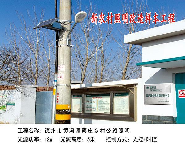 ballbet贝博网站市黄河涯蔡庄乡村公路照明
