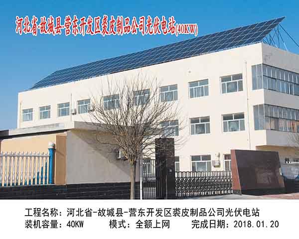 河北故城营东开发区裘皮制品公司光伏电站